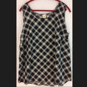 Plaid tank top blouse 2X 18W 20W